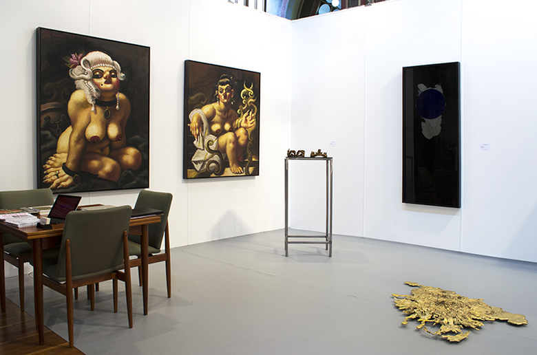 installation view: Melbourne Art Fair | Part I group show (E113), 2014 | Royal Exhibition Centre, Melbourne