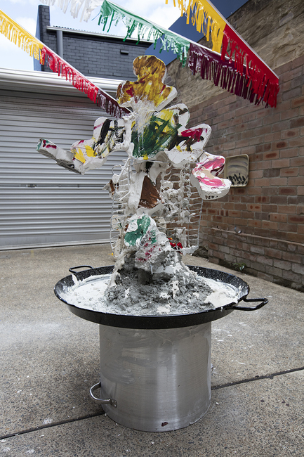 The fountain of a washed up youth football star
