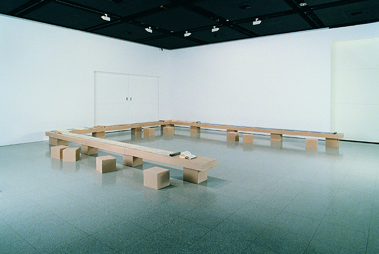 installation view: Narelle Jubelin - On Writing. Writing On, 2002, John Curtin Gallery, Curtin University, Perth