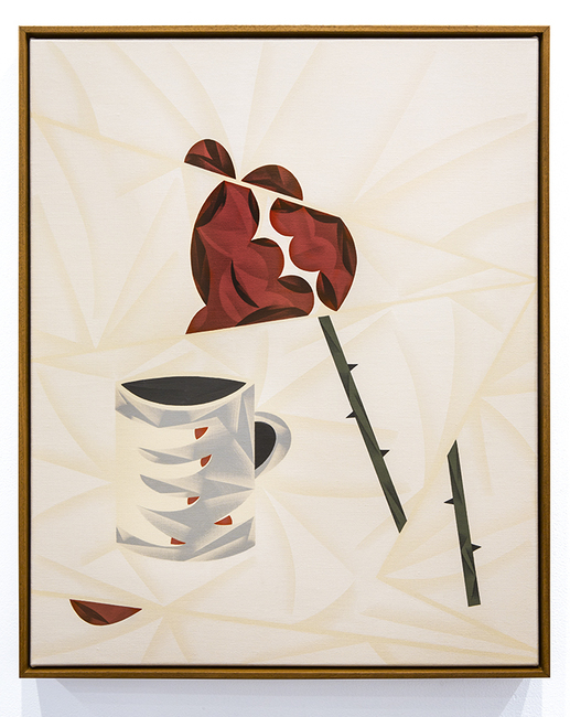 Rose & Coffee Painting Painting