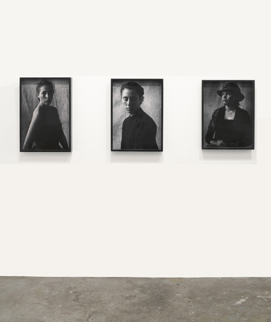 installation view: Michael Riley - Portraits 1984 - 1990 | at The Commercial Gallery, Sydney
