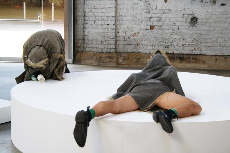 performance view: Hossein Ghaemi - Frank: Hole up - Hold up, 2013 | YOU'RE HISTORY festival | at Performance Space, Sydney