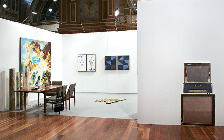 installation view: Melbourne Art Fair | Part II group show (E113), 2014 | Royal Exhibition Centre, Melbourne