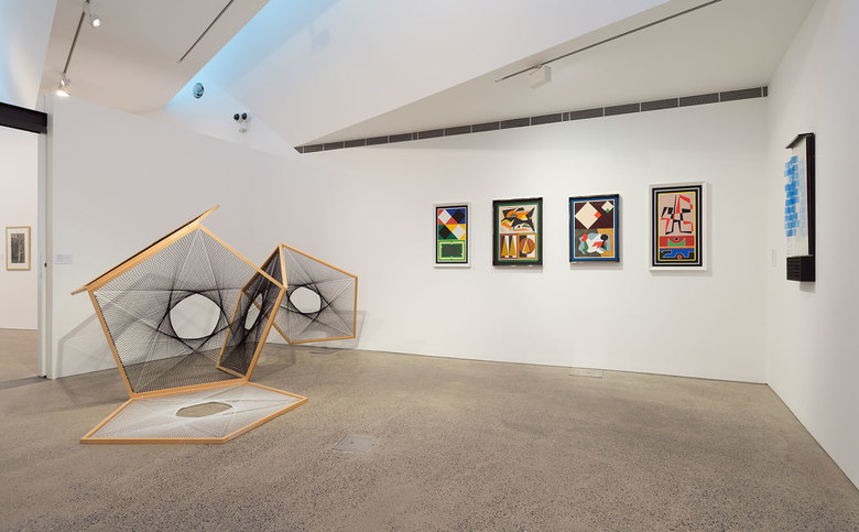 installation view: Diena Georgetti in Call of the Avant-Garde: Constructivism and Australian Art | curated by Sue Cramer and Lesley Harding | at Heide Museum of Modern Art, Melbourne