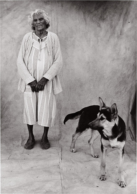 Nanny Wright and dog
